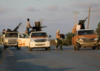 FILE PHOTO: Armed forces allied to internationally recognised government fight with armed group in Tripoli, Libya September 22, 2018. REUTERS/Hani Amara