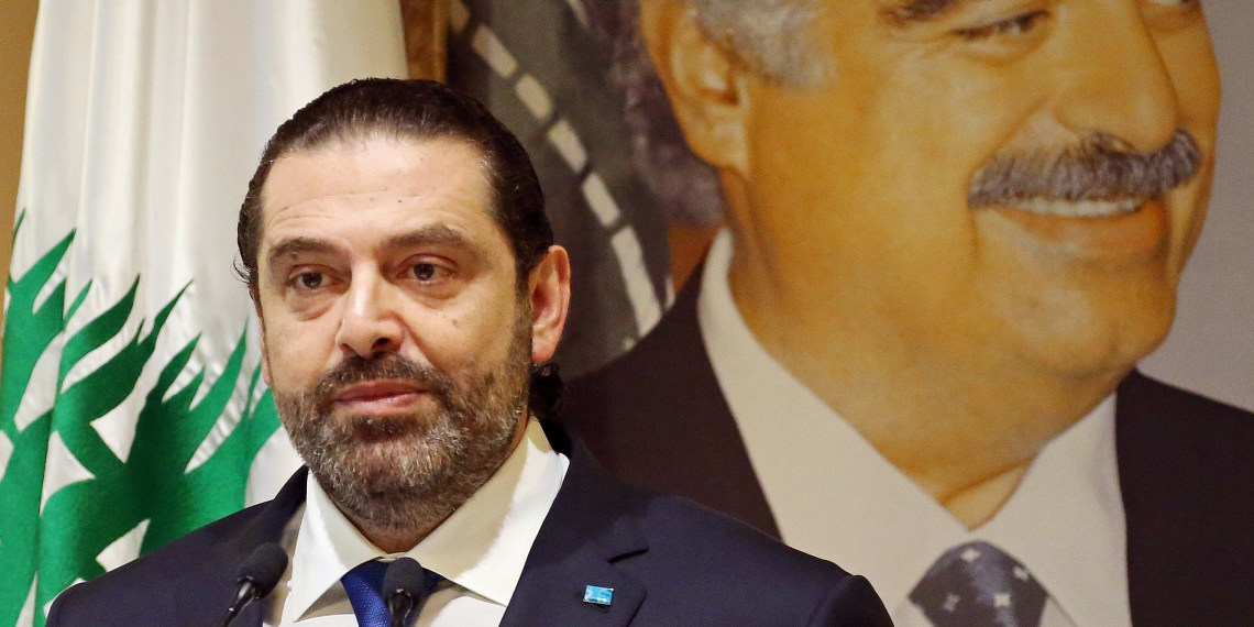 Lebanese Prime Minister-designate Saad al-Hariri speaks during a news conference in Beirut, Lebanon, November 13, 2018. REUTERS/Mohamed Azakir