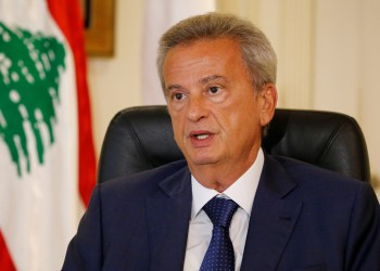 FILE PHOTO: Lebanon's Central Bank Governor Riad Salameh speaks during an interview with Reuters in Beirut, Lebanon August 6, 2018. REUTERS/Mohamed Azakir