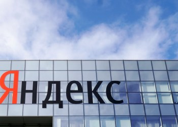 FILE PHOTO: The logo of Russian internet group Yandex is pictured at the company's headquarter in Moscow, Russia October 4, 2018. REUTERS/Shamil Zhumatov