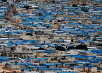FILE PHOTO: A general view of the Syrian town of Atimah, Idlib province, seen in this picture taken from Reyhanli, Hatay province, Turkey October 10, 2017. REUTERS/Osman Orsal