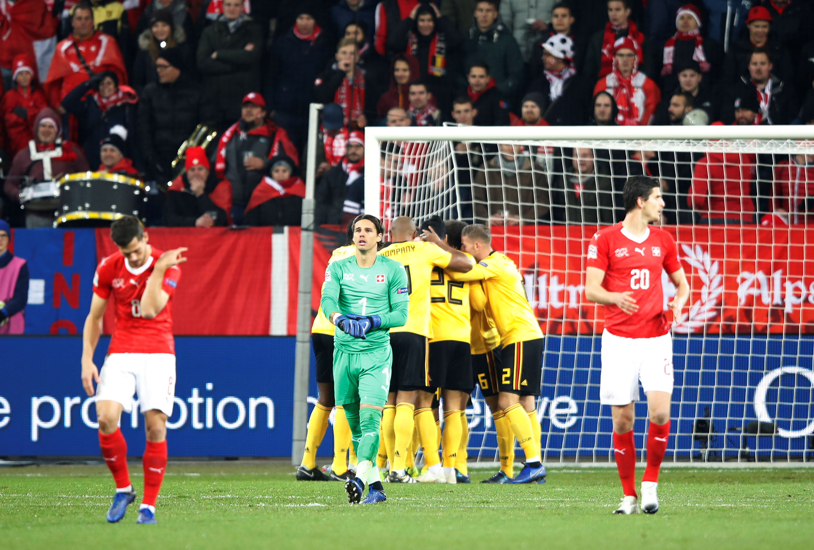 104346986ca Haris Seferovic scored a hat-trick as Switzerland recovered from conceding  two early goals to beat World Cup semi-finalists Belgium 5-2 on Sunday and  ...