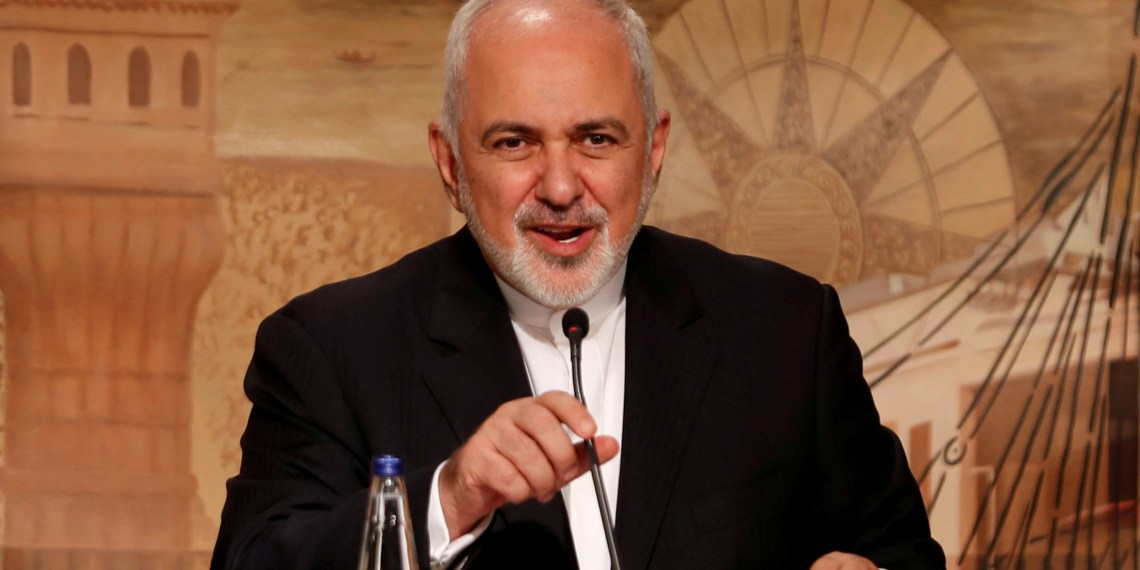 FILE PHOTO: Iranian Foreign Minister Mohammad Javad Zarif speaks during a news conference in Istanbul, Turkey, October 30, 2018. REUTERS/Murad Sezer/File Photo