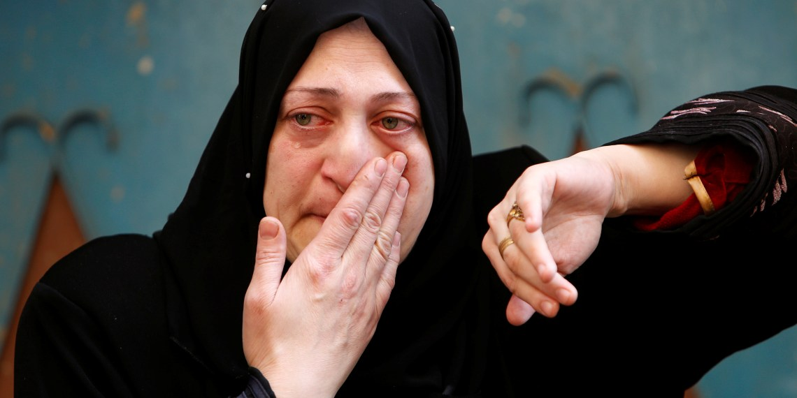 A relative of Palestinian man Mohammed Habali mourns during his funeral in Tulkarm refugee camp near Tulkarm in the occupied West Bank December 4, 2018. REUTERS/Abed Omar Qusini