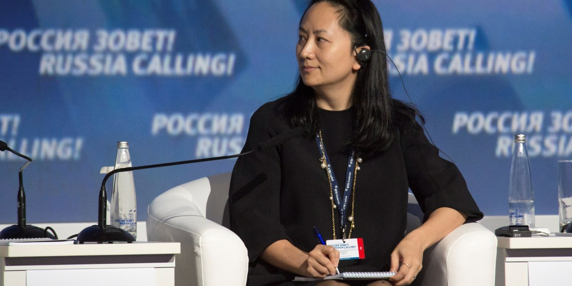 "FILE PHOTO: Meng Wanzhou, Executive Board Director of the Chinese technology giant Huawei, attends a session of the VTB Capital Investment Forum ""Russia Calling!"" in Moscow, Russia October 2, 2014. REUTERS/Alexander Bibik"