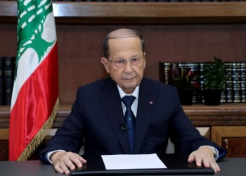 FILE PHOTO: Lebanese President Michel Aoun talks on the eve of the country's 75th independence day at the presidential palace in Baabda, Lebanon November 21, 2018. REUTERS/Dalati Nohra/Handout via REUTERS