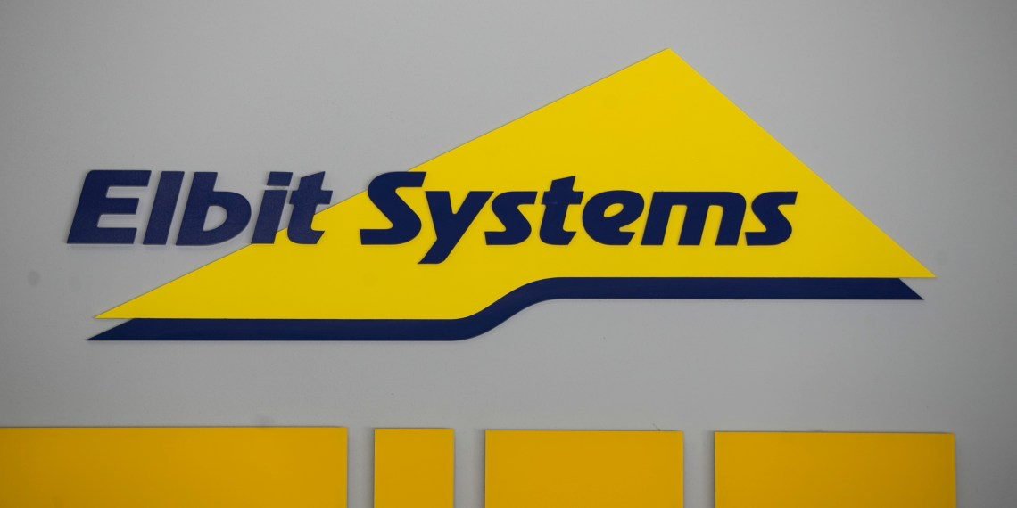 FILE PHOTO: Logo of Israeli defence electronics firm Elbit Systems is seen at their offices in Haifa, Israel February 26, 2017. REUTERS/Baz Ratner