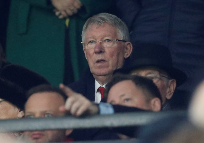 FILE PHOTO: Soccer Football - Premier League - Southampton v Manchester United - St Mary's Stadium, Southampton, Britain - December 1, 2018 Sir Alex Ferguson in the stands before the match Action Images via Reuters/Matthew Childs