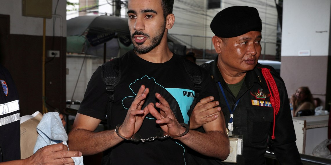 FILE PHOTO: Former Bahrain soccer player Hakeem Al Araibi, who holds a refugee status in Australia, at court in Bangkok, Thailand Dec 11, 2018. REUTERS/Athit Perawongmetha - RC1A551F3AA0/File Photo