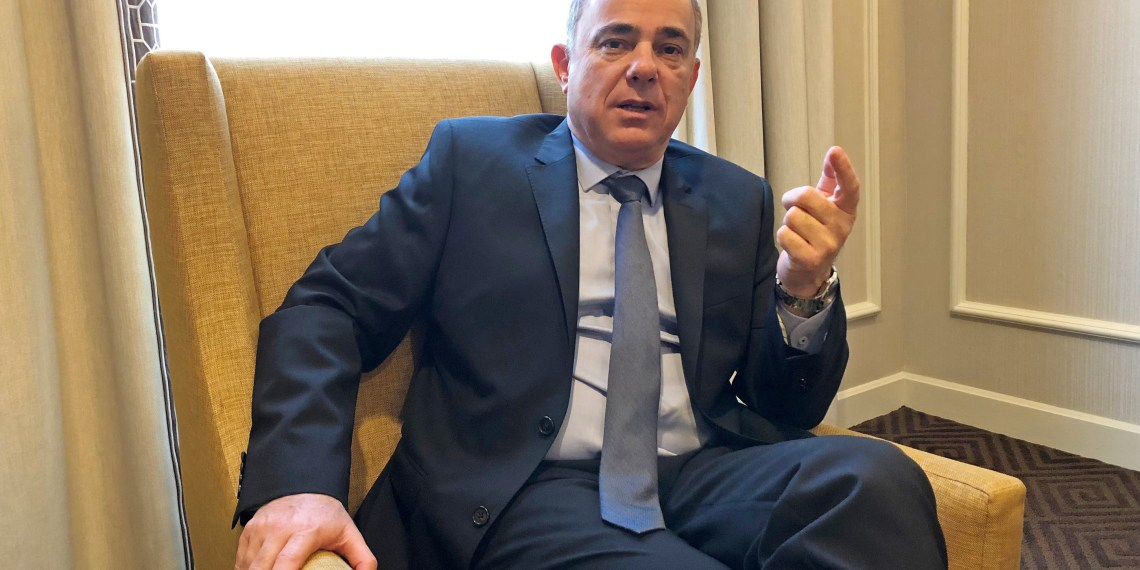 FILE PHOTO: Yuval Steinitz, Israel's energy minister is pictured on the sidelines of the World Gas Conference in Washington, DC, U.S. June 26, 2018. REUTERS/Timothy Gardner