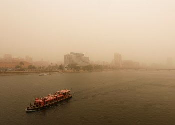 A view of Cairo as a sandstorm hits the city, Egypt January 16, 2019. REUTERS/Amr Abdallah Dalsh