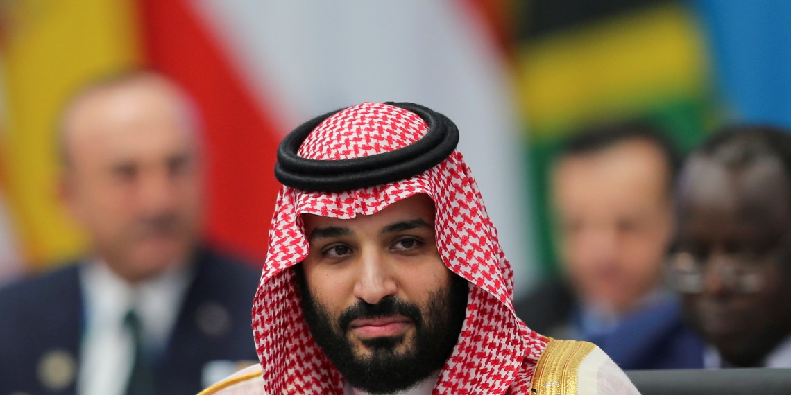 FILE PHOTO: Saudi Arabian Crown Prince Mohammed bin Salman attends a G20 leaders summit in Buenos Aires, Argentina, November 30, 2018. REUTERS/Sergio Moraes/File Photo