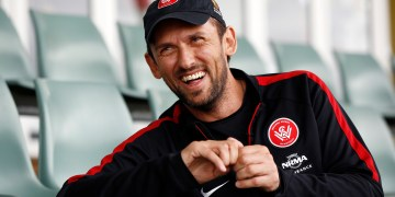 FILE PHOTO: Western Sydney Wanderers soccer team coach Tony Popovic laughs at the team's training facility at Rooty Hill in the western suburbs of Sydney, October 21, 2014.  REUTERS/Jason Reed/File Photo