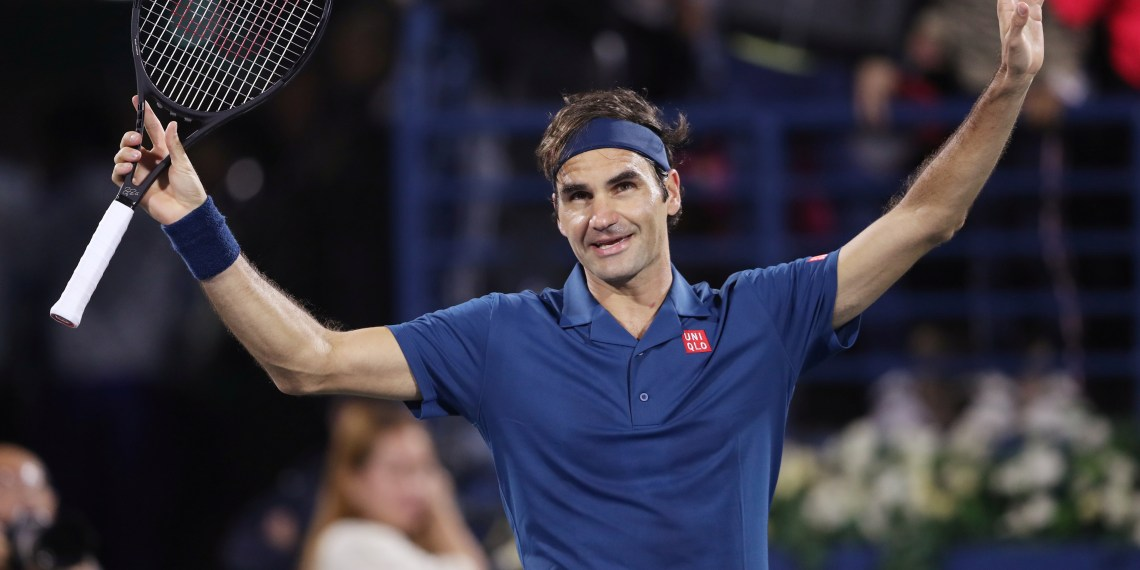 Tennis - ATP 500 - Dubai Tennis Championships - Dubai Duty Free Tennis Stadium, Dubai, United Arab Emirates - March 1, 2019 Switzerland's Roger Federer celebrates after winning his semi final match against Croatia's Borna Coric REUTERS/Ahmed Jadallah