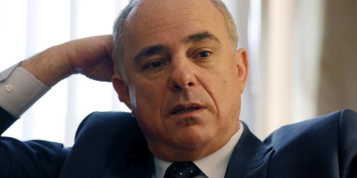 FILE PHOTO: Israeli Energy Minister Yuval Steinitz speaks during an interview with Reuters in Cairo, Egypt January 14, 2019. REUTERS/Mohamed Abd El Ghany