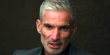 FILE PHOTO: Craig Foster, former Australian football player speaks during an interview with Reuters at an hotel after visiting refugee Hakeeem Al-Araibi at Bangkok prison, Thailand, January 23, 2019. REUTERS/Athit Perawongmetha/File Photo