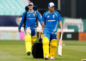 Britain Cricket - Australia Nets - The Oval - 25/5/17 Australia's David Warner (R) and Steve Smith during nets Action Images via Reuters / John Sibley Livepic