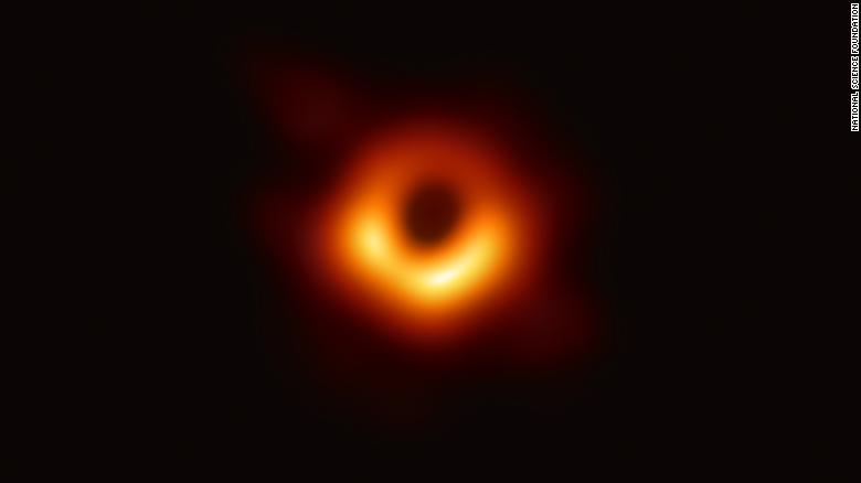 Scientists captured an image of the supermassive black hole at the center of a galaxy known as M87.