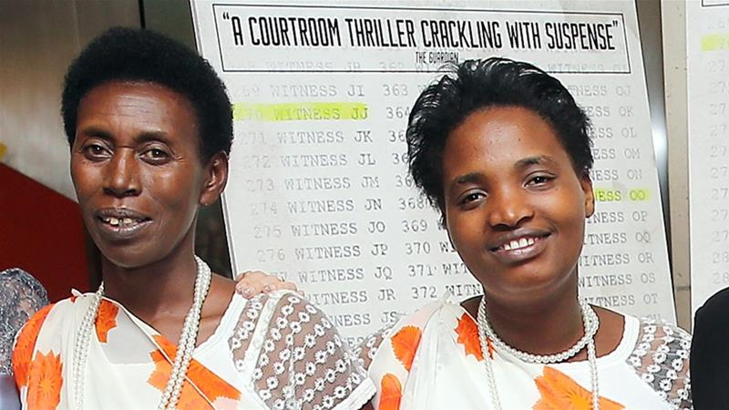 Victoire Mukambanda and Cecile Mukarugwiza attend screening of a film about the Rwanda trial in which they gave evidence at the UN headquarters in New York on October 19, 2016 [File: J Countess/Getty]