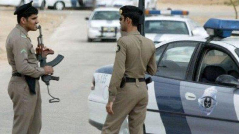 File photo of Saudi Policemen standing guard in the capital Riyadh. (AP)