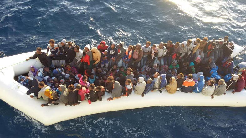 File photo of migrants arrive at a naval base after they were rescued by the Libyan coastal guard in Tripoli, Libya. (File photo: Reuters)