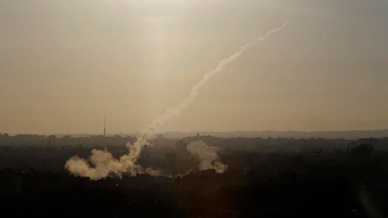 A rocket fired from Gaza on Thursday hit an empty building in the Israeli border town of Sderot. (File photo: AP)