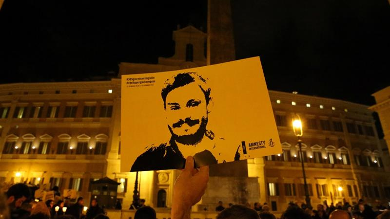 The body of the 28-year-old graduate student was found 10 days after his disappearance and bore signs of torture [File: Alessandro Bianchi/Reuters]