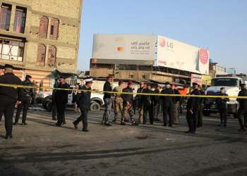 File photo of a security officials at the site of a suicide bombing in central Baghdad. (AFP)