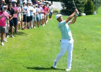 Bryson DeChambeau took more than two minutes for a 70-yard shot on the 16th, and a similar time for an eight-foot putt on the eighth hole