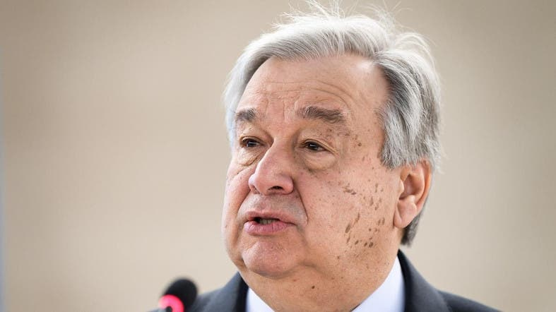 File photo of UN Secretary-General Antonio Guterres. (AFP)