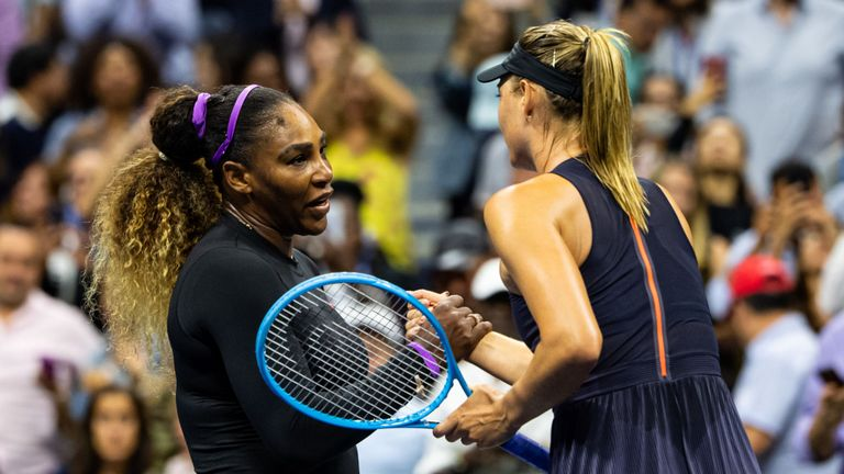 Serena Williams breezed past Maria Sharapova in their US Open first-round match