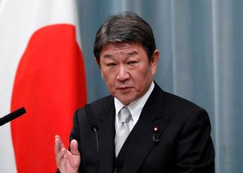 Japan's new Foreign Minister Toshimitsu Motegi attends a news conference at Prime Minister Shinzo Abe's official residence in Tokyo, Japan September 11, 2019. REUTERS/Issei Kato