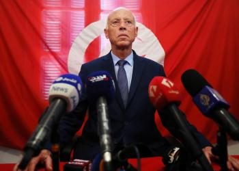 FILE PHOTO: Presidential candidate Kais Saied speaks as he attends a news conference after the announcement of the results in the first round of Tunisia's presidential election in Tunis, Tunisia September 17, 2019. REUTERS/Muhammad Hamed/File Photo