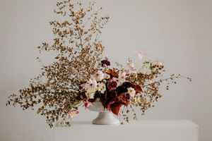 Ranunculus Dried Eucalyptus Columbine and Coleus