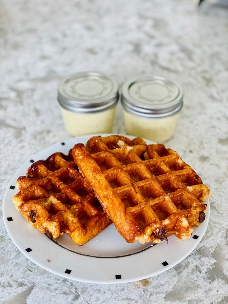 Craque du Creme Belgian Waffles and Creme Brulee