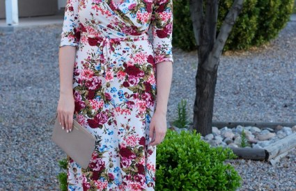 Floral Maxi Dress + Giveaway to Pink Blush