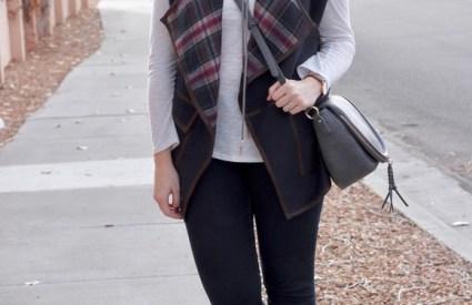 Plaid Blanket Vest & The Weekly Style Edit Link Up