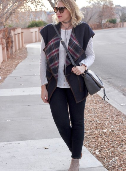Plaid Blanket Vest & The Weekly Style Edit Link Up