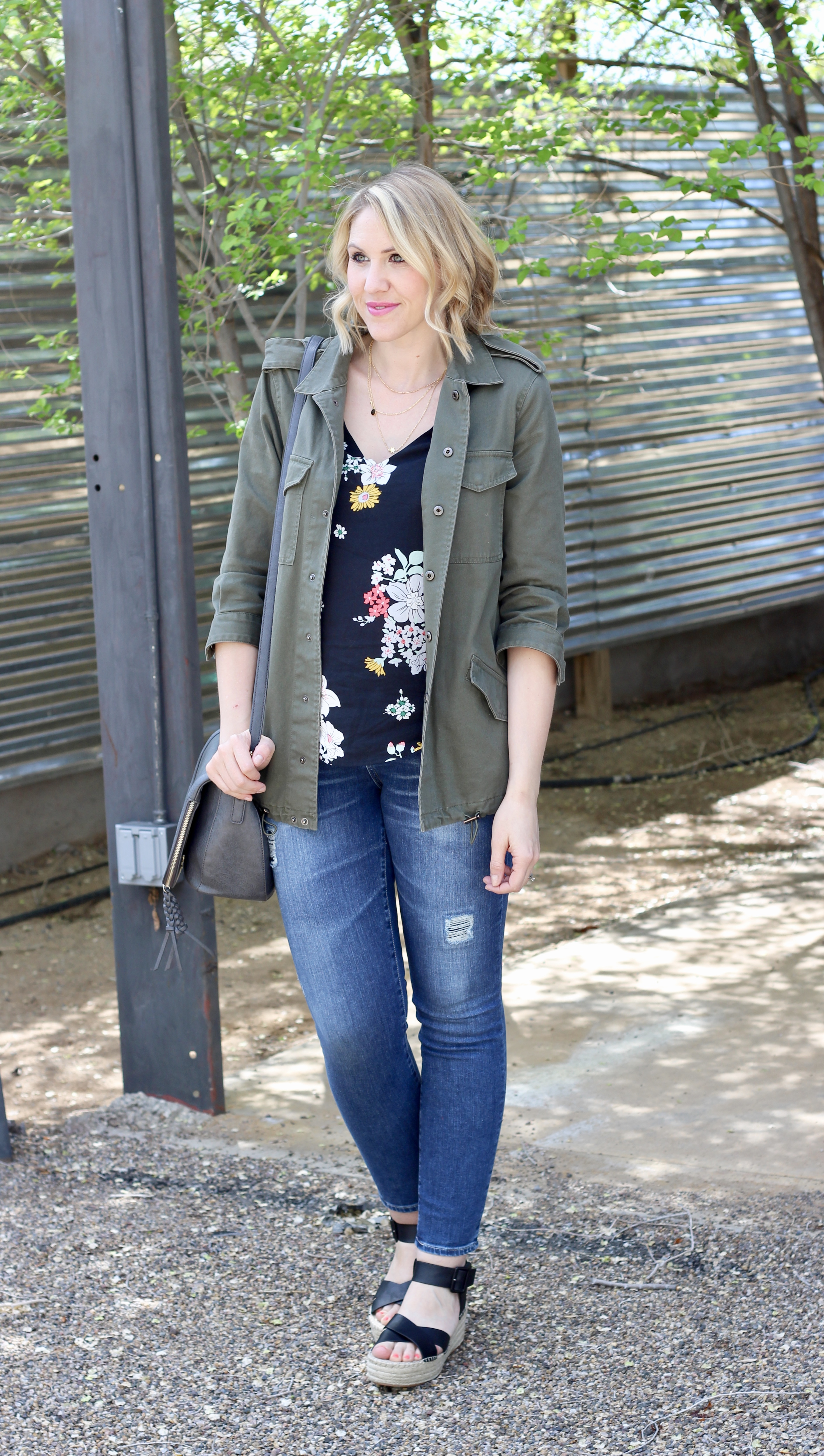 casual spring outfit with Sole Society Audrina platforms