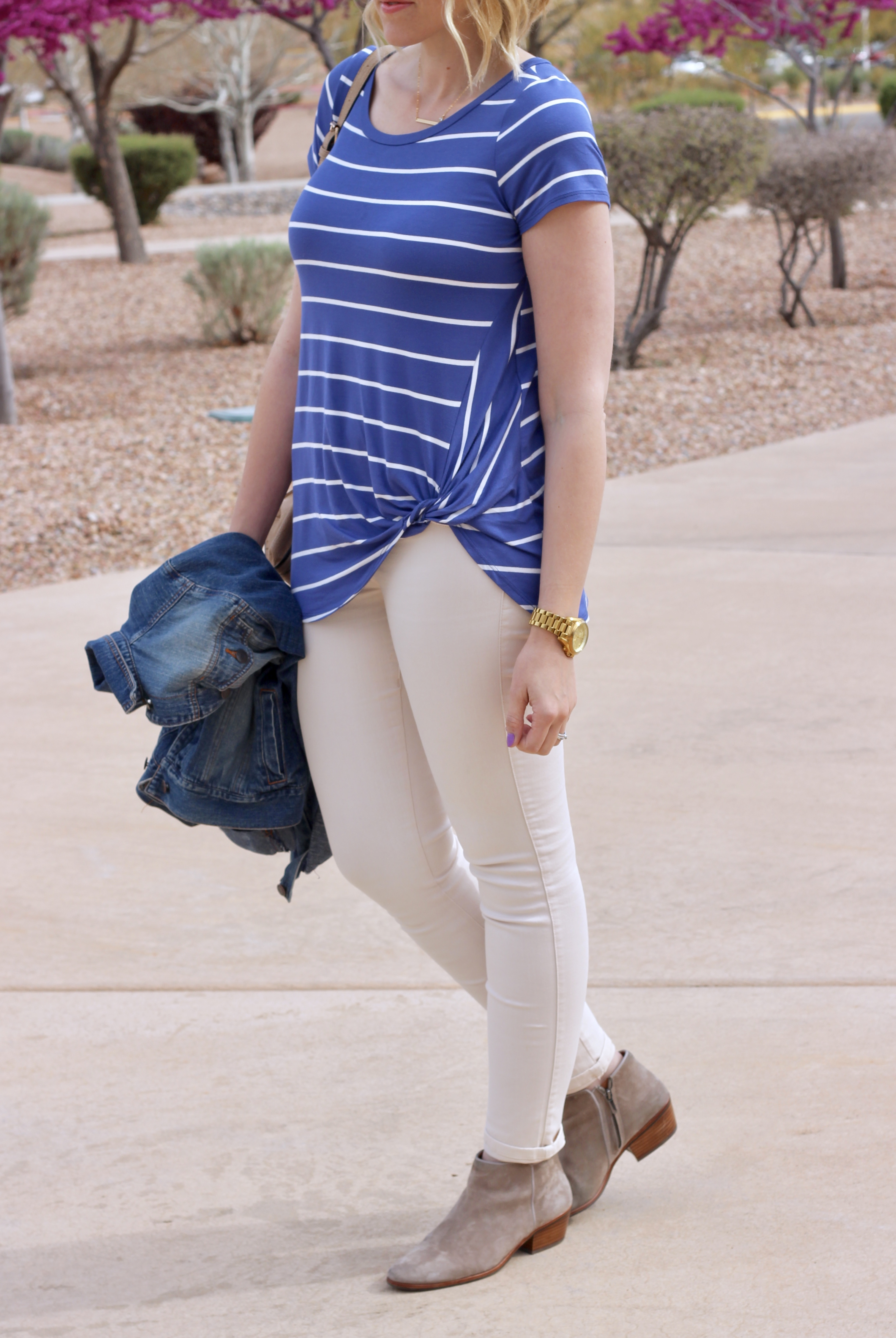 the perfect striped t-shirt from pink blush