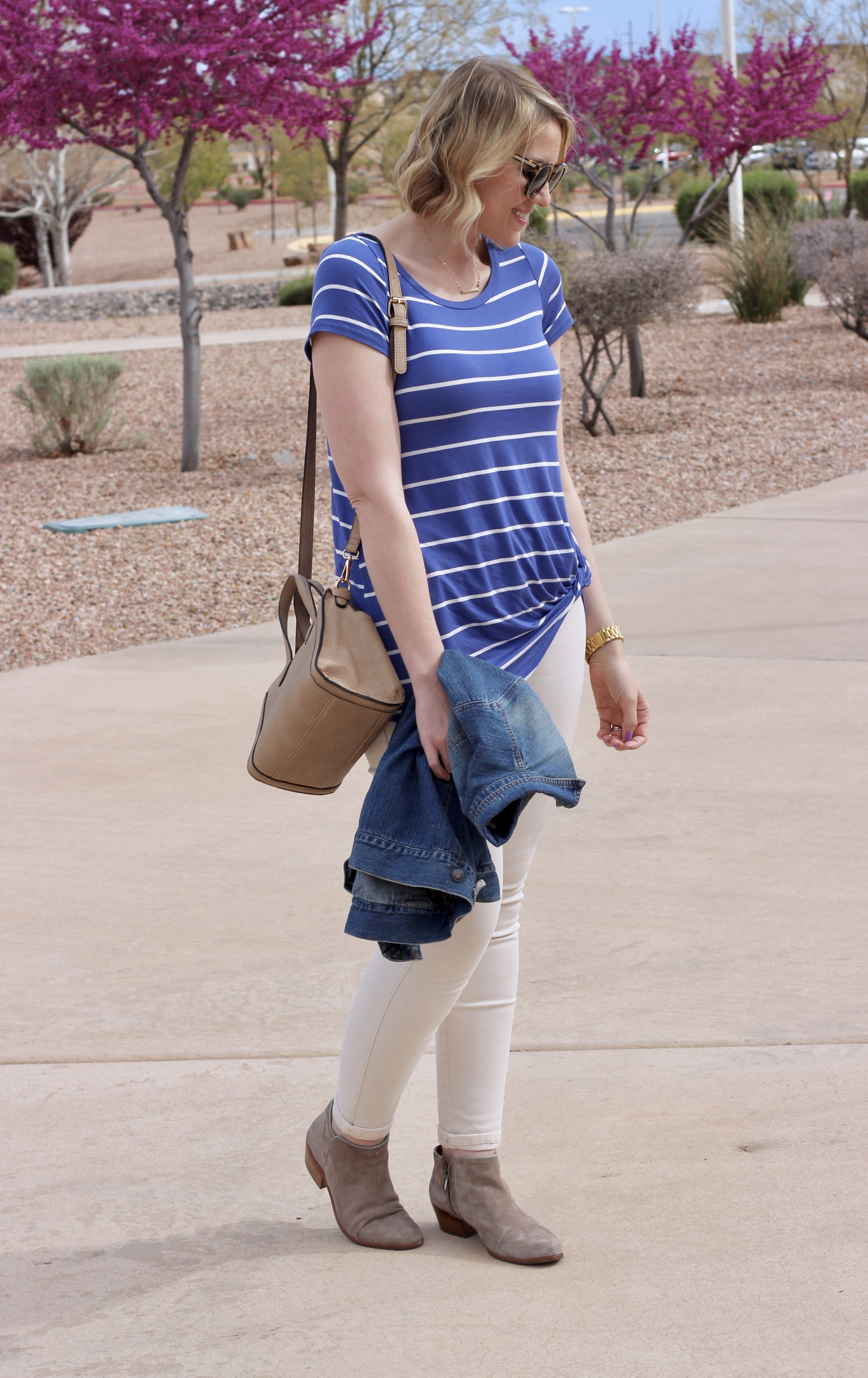 the perfect striped tee from Pink Blush