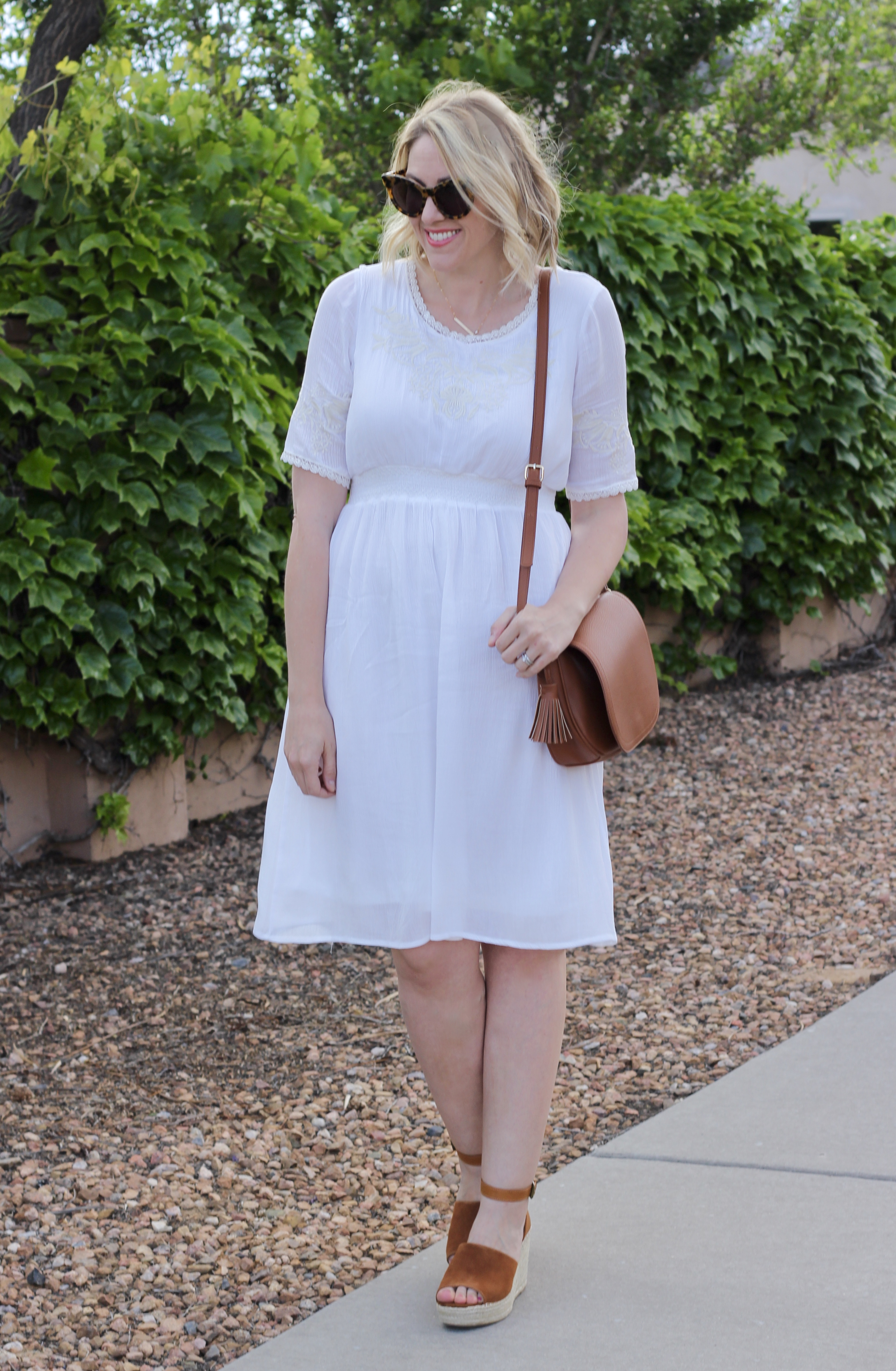white dress outfit for spring
