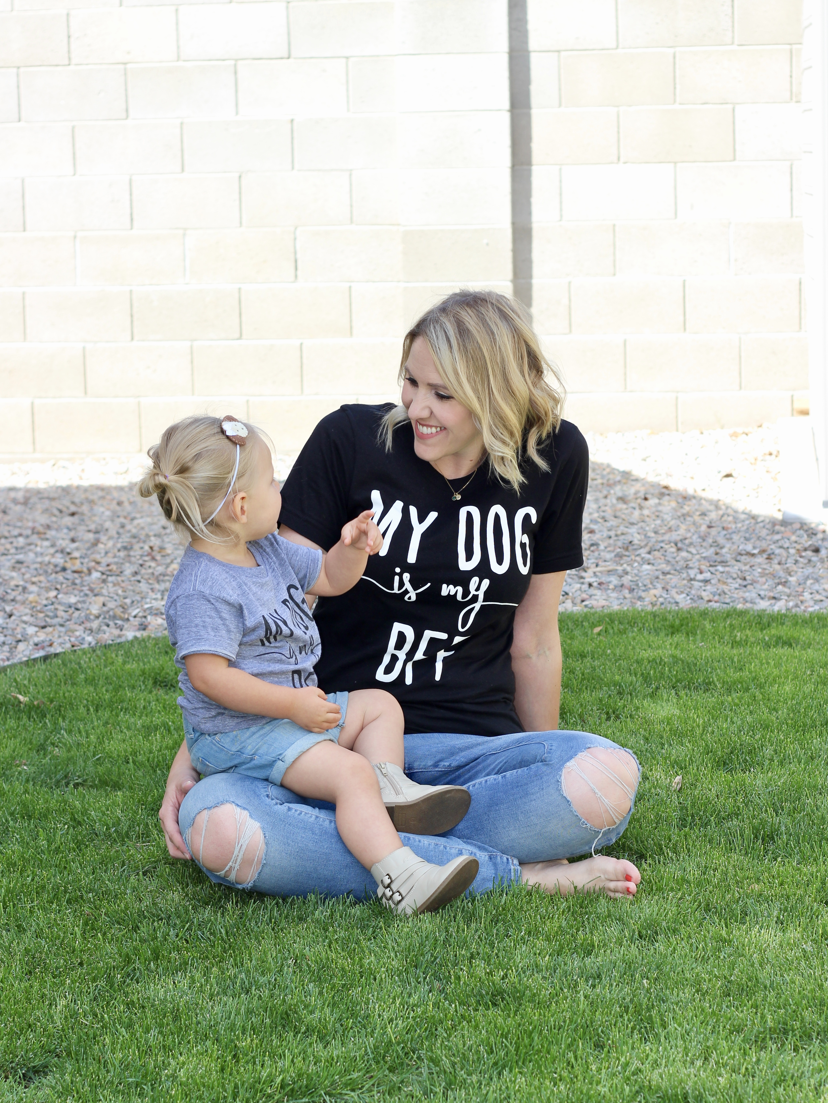 my dog is my BFF matching mommy and me shirts
