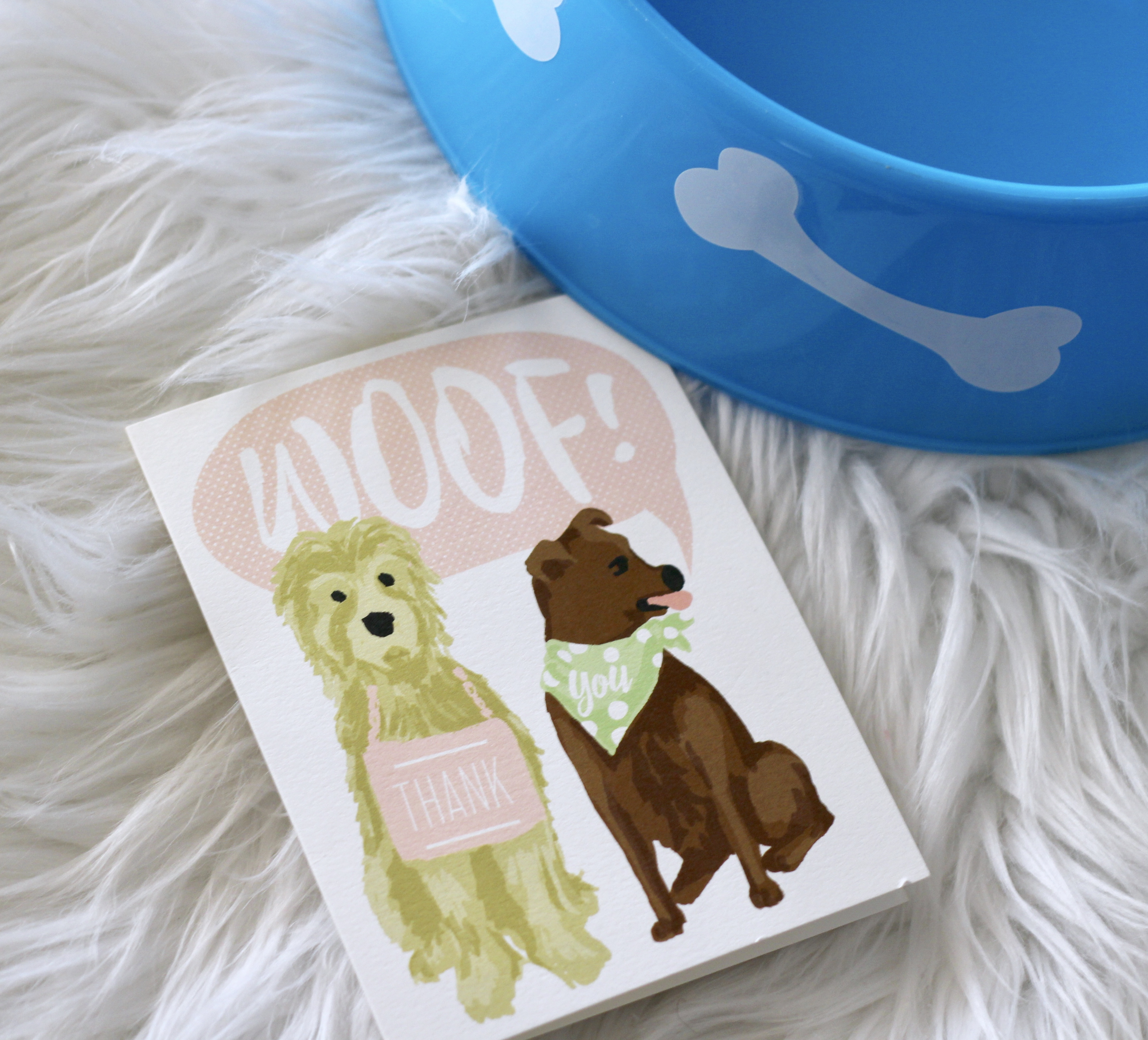 Minted dog themed thank you cards