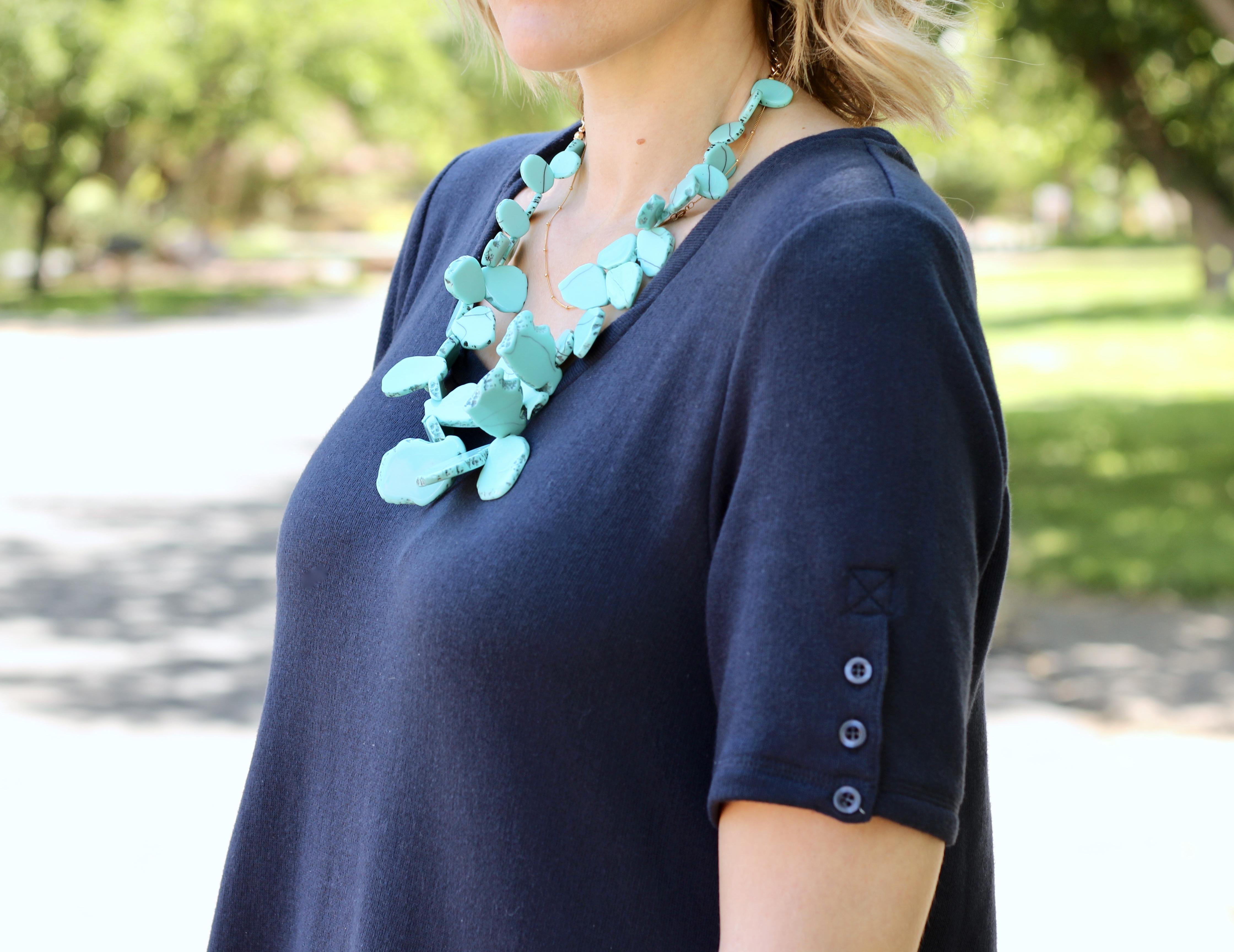 baublebar seaglass turquoise bib necklace