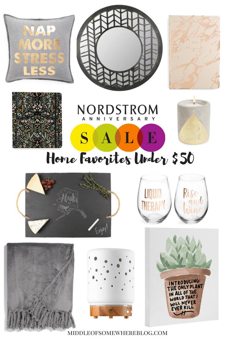 nordstrom anniversary sale home favorites under $50