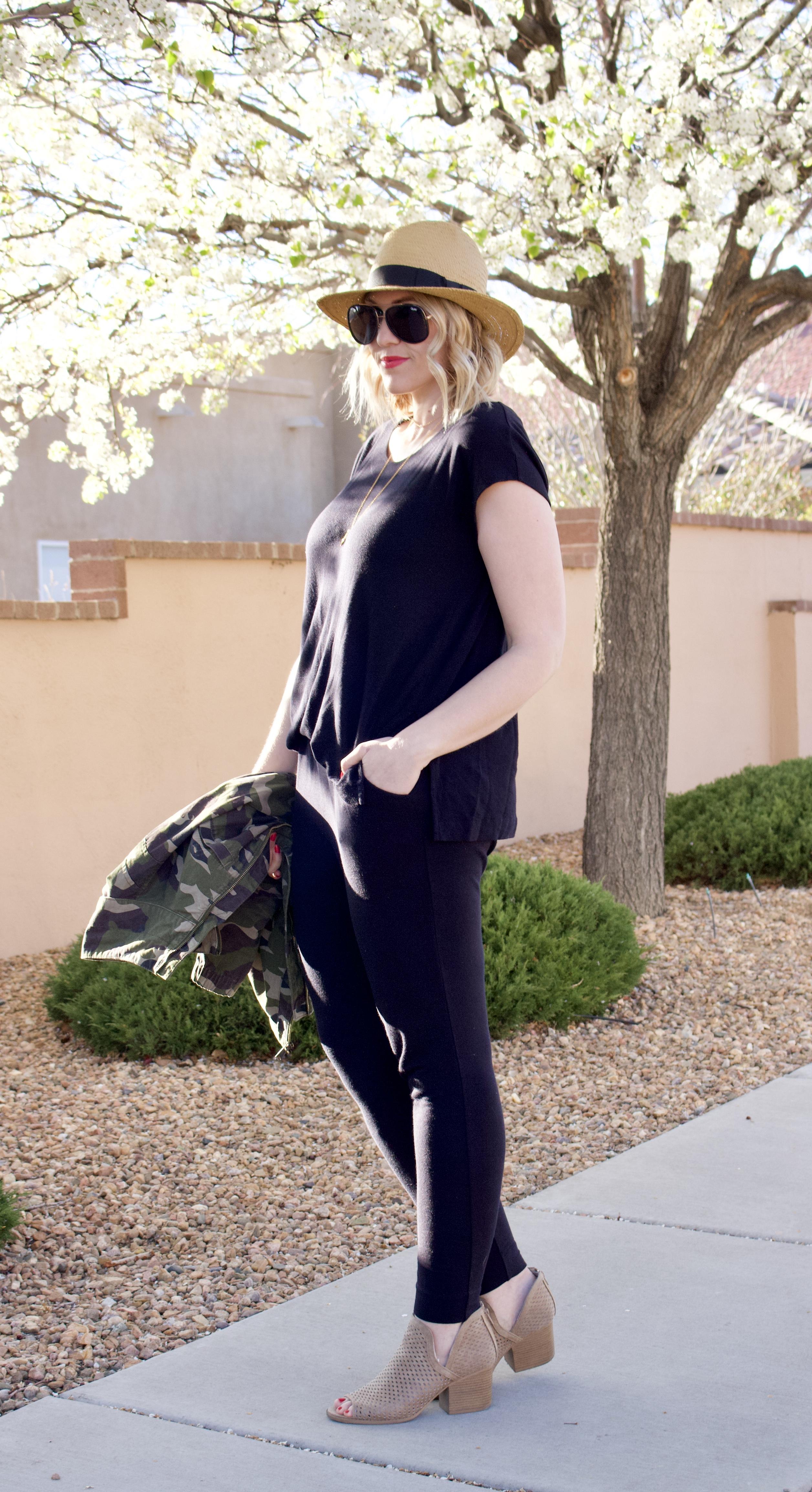 black jumpsuit outfit #jumpsuit #springstyle #cabijumpsuit