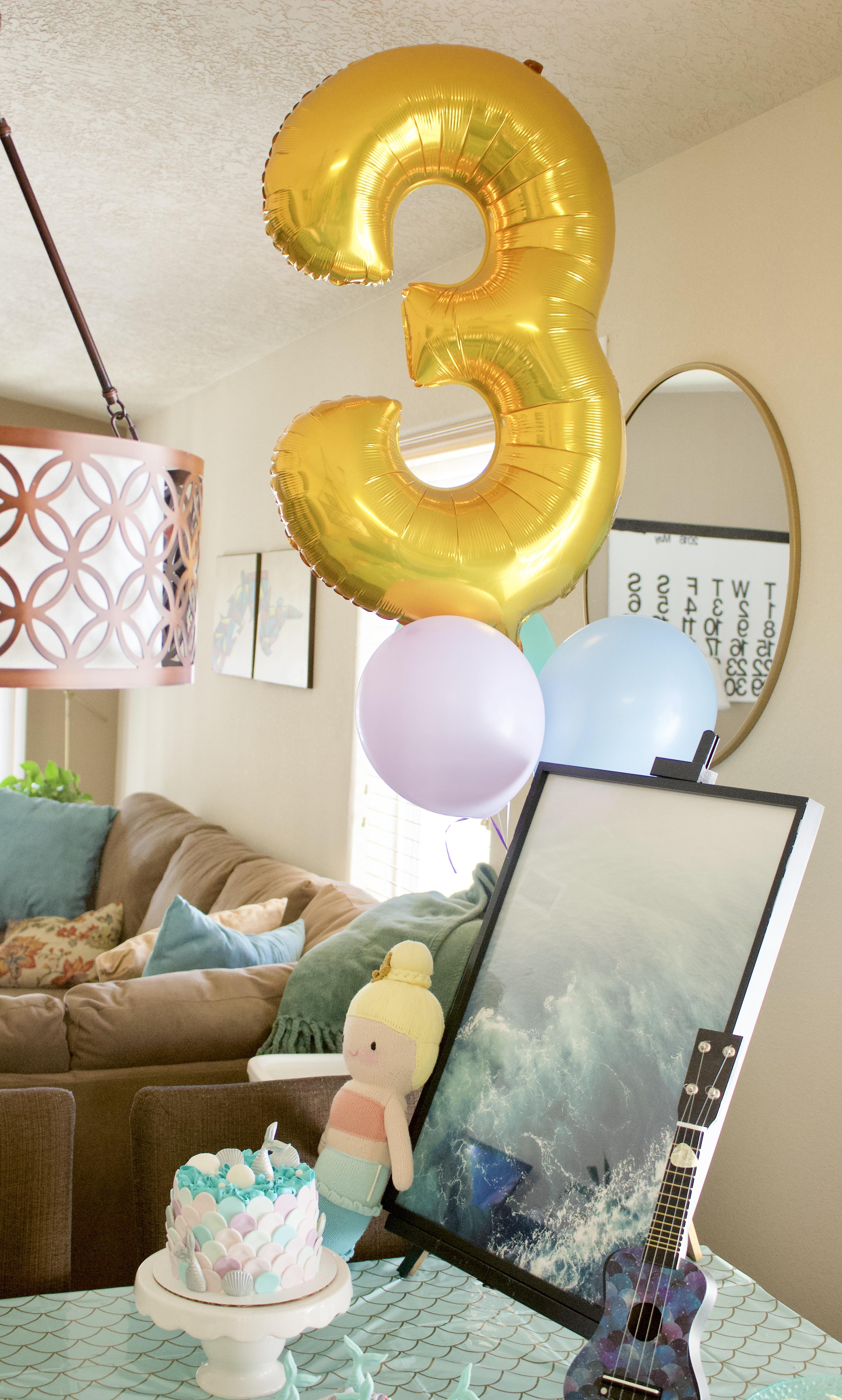 3rd birthday mermaid party #3rdbirthday #birthday #kidsbirthday #toddlerparty