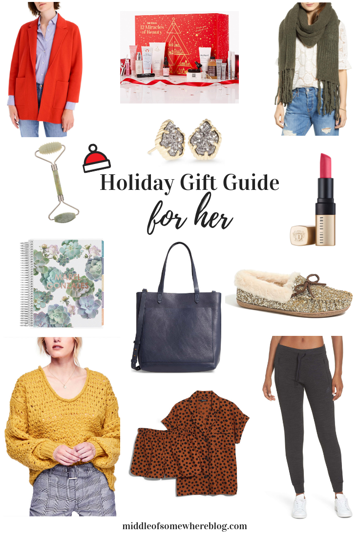 gift guide for her 2018 #giftguide #giftsforher #giftideas