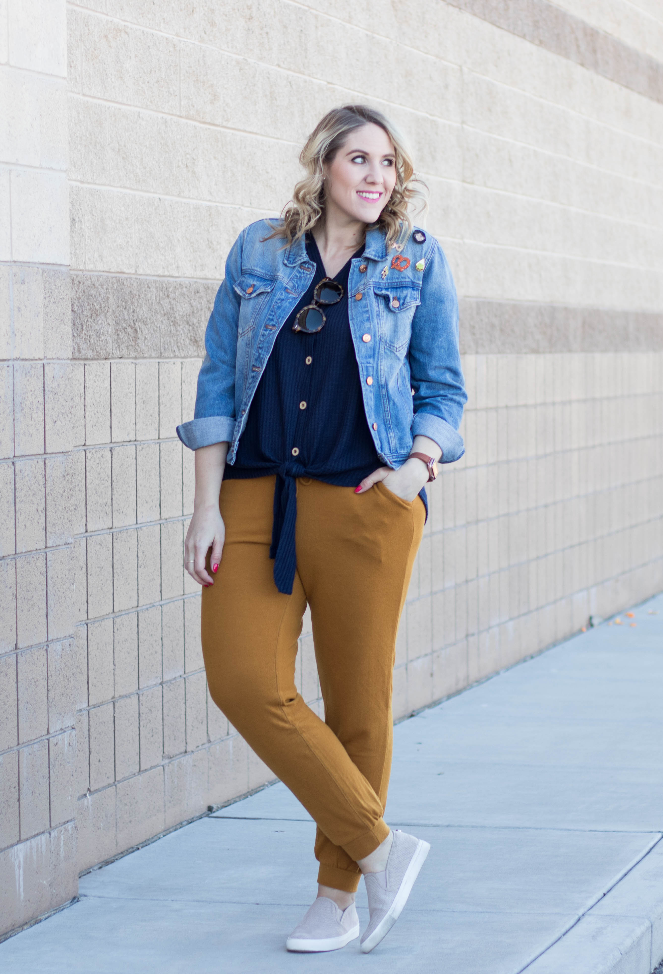 how to style joggers #athleisure #joggers #casualstyle
